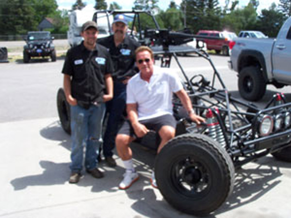 Arnold Schwarzenegger with Mike and Shane Jongeling